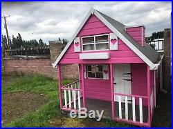 10x66 Girls Garden Play Dolls wooden Wendy house With Upstairs & Balcony L@@K