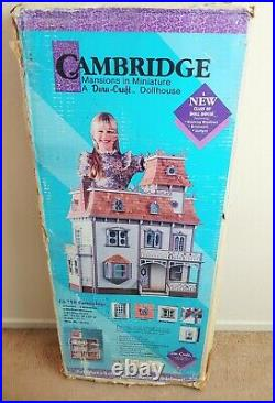 1991 Vintage Dura Craft Cambridge Wooden 9 Rooms Dollhouse Kit CA 750 NIB New