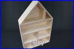 1 x Plain Wooden Dolls`House Shelf Caddy Storage Unit Miniatures Display PD37