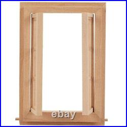 30X112 Dollhouse Miniature Double Window Wooden 6 Pane e and Glass Plate Doll