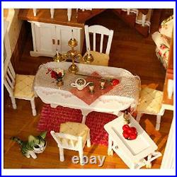 3D Wooden DIY Miniature Dollhouse Kit DIY House Kit with House of Fairy Tales