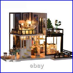 3XDIY Doll House Wooden Miniature dollhouse Miniature Doll House With Furn O6B3