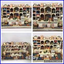 ANTIQUE GERMAN WOODEN Diorama STORE MORITZ GOTTSCHALK Dollhouse Miniatures FULL