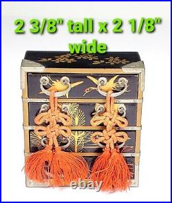 ANTIQUE Japanese Wooden Lacquer Dollhouse Hina Doll Miniatures