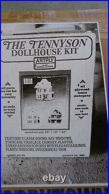 ARTPLY Tennyson WOODEN DOLLHOUSE Kit NIB