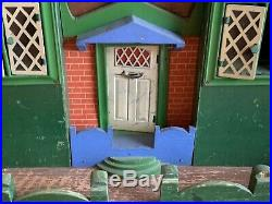 Antique Cottage Style Wooden Dollhouse with Multi-Peak Roof, 15