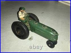 Antique Doll House Barn Wooden Farm Set Auburn Arcor Rubber Animals Tractor