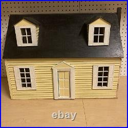 Antique USA 24x17x17 Large Toy Wood Wooden 4 Room 2 Story Dollhouse