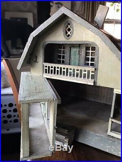 Antique Victorian Wooden Doll House German Moritz Gottschalk