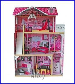 Barbie Doll House Wooden Furniture and Accessories Included Girls Toy