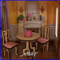 Barbie Size Charlotte Classic Wooden Dollhouse with 14 Accessories EZ Assembly