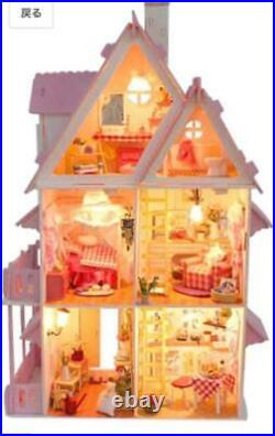 Big Wooden Children'S Doll House Barbie Kit Dollhouse