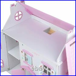 Bigjigs Toys Butterfly Cottage Large Wooden Unfurnished Doll House