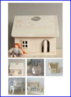Bonpoint Wooden Doll House Happy to See You Genuine Used Free Shipping From JPN