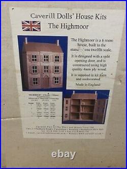 Brand New Vintage Caverill Wooden Dolls House The Highmoor 3 Floor Mansion