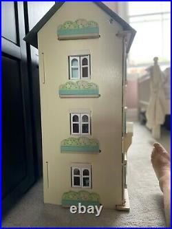 Cherry Tree Hall wooden dollhouse Height 92cm, Width 66cm Suitable for 3 years +