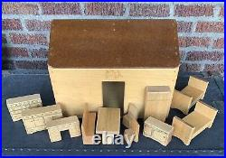 Community Playthings Wooden Doll house And Furniture Kitchen Bedroom Wood 13 pcs