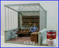 Custom Hand Crafted Wooden Miniture Doll House Greenhouse Solarium Potting Shed