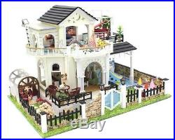 DIY Doll Houses Handmade Furniture Miniature Children Gift Toys Wooden Dolls Bab