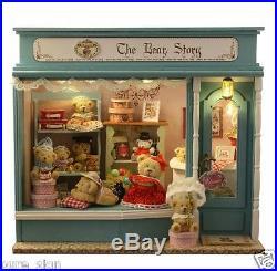 DIY Handcraft Miniature Project Wooden Dolls House Baby Bear's Fairy Tales Shop