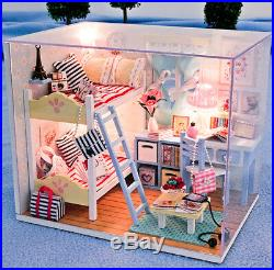 DIY Handcraft Miniature Project Wooden Dolls House My Angel Twins Bedroom 2017