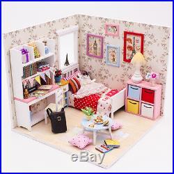 DIY Handcraft Miniature Project Wooden Dolls House My Little Angels Bedroom 2017