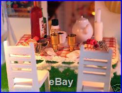 DIY Handcraft Miniature Project Wooden Dolls House My Pink Little Villa