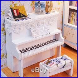 DIY Handcraft Miniature Wooden Dolls House My little Piano Room 2017