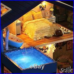 DIY Handcraft Project Wooden Dolls House My Little Villa in Seattle Yellow Car