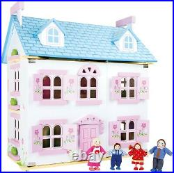 Doll House Luxury Flower Paradise Furniture Included Dolls Toy Wood Wooden 10325