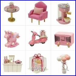 Doll Houses Miniature Kit Wooden DIY Casa Music Led Toys Children Birthday Gift