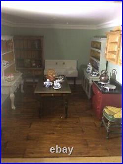 Dolls House Beautiful Country Style with real wooden floors