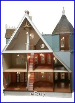 Dolls House New Leon Gothic Victorian Mansion 112 Laser Cut Wooden Flat Pack Ki