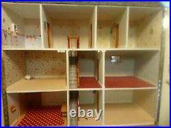 Dolls house- wooden 1/12th scale Good condition-Courier or Collect