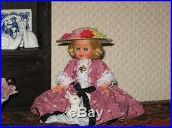 Dutch Old Vintage Wooden Display Cabinet Miniatures Porcelain Figurines & Doll