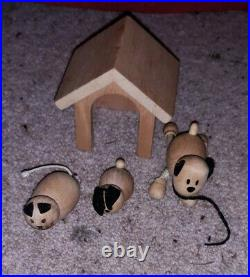 ECL/Large Wooden Dolls House plus variety of accessories, pet/smoke free home