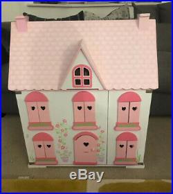 ELC Wooden Rosebud Dolls House And Furniture And Familys Flower Shop EXCELLENT