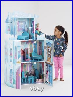 Extra Large XL Girls Wooden Princess Castle Play Set With Furniture Perfect Gift