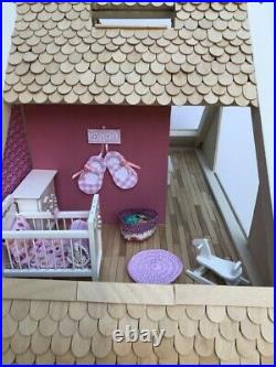 Fully Furnished Restored Wooden dolls house