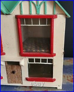 Genuine Antique Handmade Wooden Dolls House