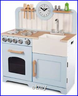 Girls Kids Wooden Country Play Kitchen Pretend Play Set Toy Kitchenware Cookware