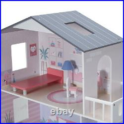 Girls Wooden 3 Levels Dollhouse with Furniture Barbie or Bratz Doll House F4