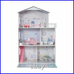 Girls Wooden 3 Levels Dollhouse with Furniture Barbie or Bratz Doll House S1