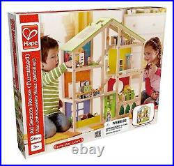 HAPE All Season Furnished Wooden Doll House E3401 Happy Family Children 3+ Years