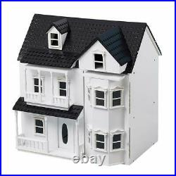 HILIROOM Wooden Dolls House Cottage, Victorian Kids Gift Doll House Toys House