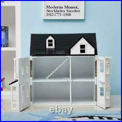 HILIROOM Wooden Dolls House Cottage Victorian Kids Gift Doll House UK STOCK