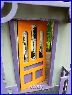 Handcrafted Halloween Dollhouse Roombox Haunted House Wooden Artisan