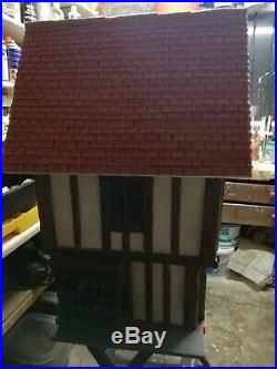 Handmade dolls house. Wooden structure. Height 27 depth 16 height 32