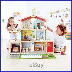 Hape Doll Family Mansion Award Winning 10 Bedroom Doll House, Wooden Play