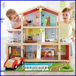 Hape Doll Family Mansion Award Winning 10 Bedroom Doll House Wooden Play Man